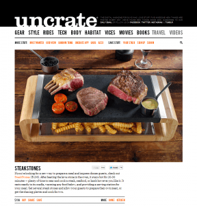 SteakStones on Uncrate